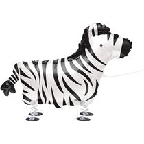 "Zebra Walking Pet 30"" Foil Balloon"