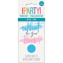 Gender Reveal Scratch Cards Party Game 10pk - BOY
