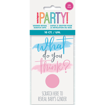 Gender Reveal Scratch Cards Party Game 10pk - GIRL