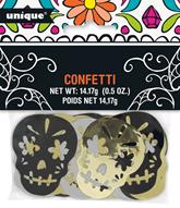 Halloween Metallic Sugar Skull Confetti 14g