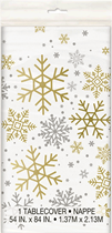Christmas Silver & Gold Snowflakes Tablecover