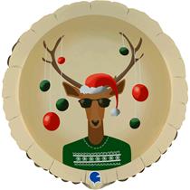 "Christmas Reindeer In Jumper 18"" Foil Balloon"