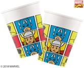 Marvel Comics Deluxe 200ml Paper Cups 8pk