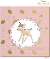 Bambi Deluxe 3-ply Foil Stamped Napkins 20pk