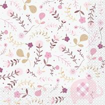Pink Floral Elephant Luncheon Napkins 16pk