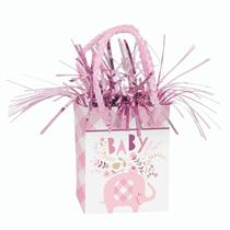 Pink Baby Elephant Mini Gift Bag Balloon Weight