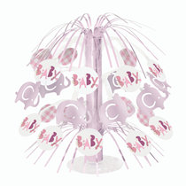 "Pink Baby Elephant 8.5"" Mini Cascade Centrepiece"
