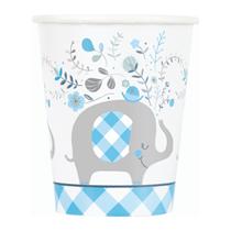 Blue Baby Elephant 9oz Paper Cups 8pk