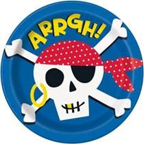 "Ahoy Pirate 9"" Paper Plates"