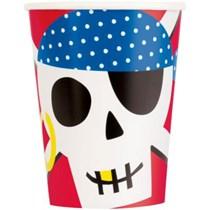 Ahoy Pirate 9oz Paper Cups 8pk