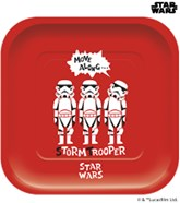 Star Wars Deluxe Square 25cm Paper Plates 4pk