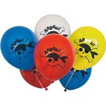 "Ahoy Pirate 12"" Latex Balloons 8pk"