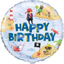 """Ahoy Pirate Birthday 18"""" Foil Balloon"""