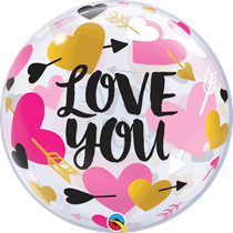 "Valentine's Love You 22"" Bubble Balloon"