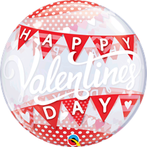"""Valentine's Day Banners 22"""" Bubble Balloon"""