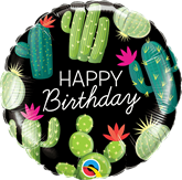 "Happy Birthday Cactuses 18"" Foil Balloon"