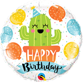 "Happy Birthday Cactus 18"" Foil Balloon"