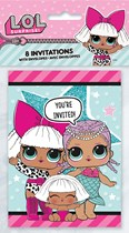 LOL Surprise Dolls Party Invitations and Envelopes