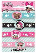 LOL Surprise Dolls Silicone Bracelets 4pk