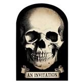 Halloween Boneyard Skull Party Invitations 20pk