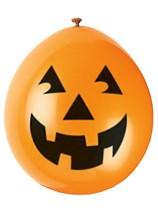 """Halloween Pumpkin 9"""" Neck-up Latex Balloons 10pk"""