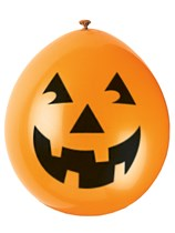 Halloween pumpkin latex balloons 100 pack