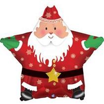 "Santa Christmas Star 18"" Foil Balloon"