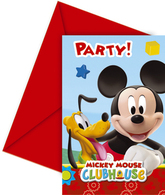 6 Mickey Mouse Clubhouse Party Invitations