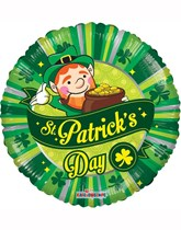 """Happy St. Patrick's Day Pot of Gold 18"""" Foil Balloon"""