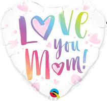 """Love You Mum 18"""" Foil Heart Balloon"""