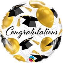 """Congratulations Gold Balloons 18"""" Foil Balloon"""