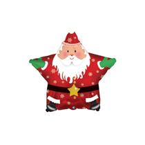 "Santa Christmas Star 9"" Mini Shape Foil Balloon"