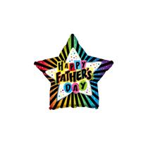 "Father's Day Rainbow Star 9"" Foil Balloon"