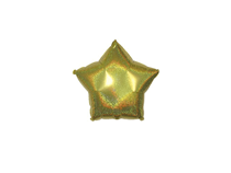 """Gold 9"""" Dazzle Star Shaped Foil Balloon"""