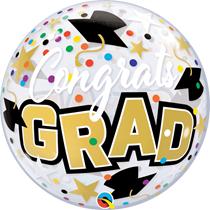"Congrats Grad Stars 22"" Bubble Balloon"