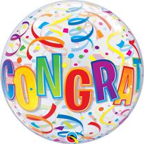 Congratulations Around Bubble Balloon