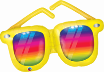 "Rainbow Striped Sunglasses 42"" Foil Balloon"