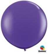 Purple Violet Round 3ft Latex Balloons 2pk
