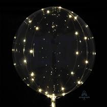 "Jumbo 32"" Clearz Balloon With White LED Lights"
