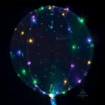"Jumbo 32"" Clearz Balloon With Colour LED Lights"