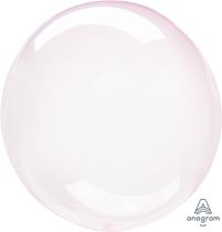 "Anagram Crystal Clearz 18 - 22"" Light Pink Balloon (Pkgd)"