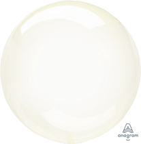 """Anagram Crystal Clearz 18-22"""" Yellow Balloon (Pkgd)"""
