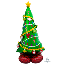 """Christmas Tree Airloonz 29"""" Foil Balloon"""
