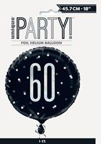 "Black Glitz 60th Birthday Prismatic 18"" Foil Balloon"