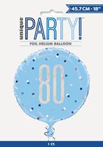 "Blue Glitz 80th Birthday Prismatic Foil 18"" Balloon"