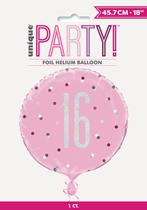 "Pink Glitz 16th Birthday Prismatic 18"" Foil Balloon"