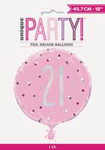 "Pink Glitz 21st Birthday Prismatic 18"" Foil Balloon"