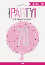 "Pink Glitz 70th Birthday Prismatic 18"" Foil Balloon"