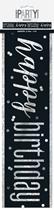 Black Glitz Happy Birthday Foil Banner 9ft