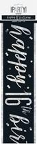 Black Glitz 16th Birthday Foil Banner 9ft